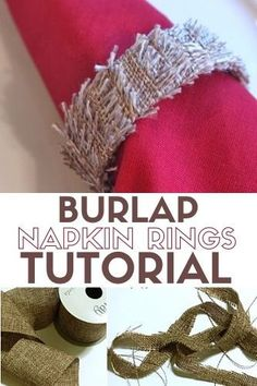 Make beautiful Burlap Napkin Rings out of popsicle sticks! Use them to decorate your table setting at your next family dinner. A simple DIY project. #thecraftyblogstalker #napkinrings #burlap #crafts #diy Craft Tutorials, Diy Projects, Ring Tutorial, Diy Thanksgiving, How To Make Diy, Popsicle Sticks, Easy Diy Crafts, Fall Diy, Napkin Rings