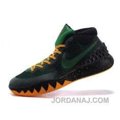 new style 2a531 5caf5 Nike Kyrie Irving 1 Black Orange Basketball Shoes