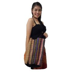 Thai HandMade Hippie Shoulder Bag, Hobo, Sling Cross Body, 100% Cotton + GIFT