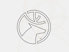 Creative Logo, Logos, Dia, Holdings, and - image ideas & inspiration on Designspiration Logo Branding, 2 Logo, Typography Logo, Graphisches Design, Icon Design, Deer Design, Circle Design, Corporate Design, Logo Circulaire