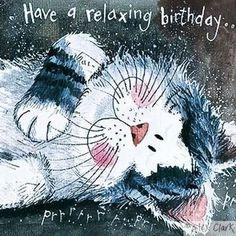 Happy Birthday Wishes Cards, Simple Birthday Cards, Happy Birthday Pictures, Birthday Wishes Quotes, First Birthday Party Themes, Cat Birthday, Birthday Cupcakes, Funny Birthday, Art Carte