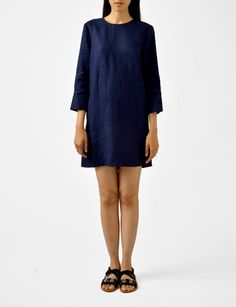 Raquel Allegra linen shift dress at Bird : ShopBird.com