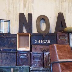 WALL OF VINTAGE   A wall full of vintage! #home #homestock #homestocknl #vintage #inspiratie #inspiration #wonen #woonwinkel #interior #interieur #conceptstore #kist #metaal #bak #letters #haarlem #eindhoven by homestocknl