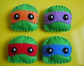 Cute Teenage Mutant Ninja Turtles Felt Plush Magnet Set