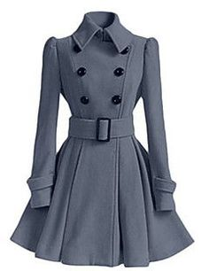 Alkalmi   Casual hétköznapi Vintage   Egyszerű Őszi   Téli-Női Kabát  6fad7705fd