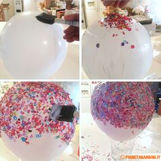 Fun craft to do with the kiddos - a mod-podge Confetti Bowl! Diy Craft Projects, Fun Crafts, Diy And Crafts, Crafts For Kids, Diy Confetti, Confetti Balloons, Peppa E George, Mod Podge Crafts, Creation Deco