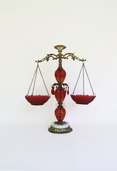 Vintage Scales of Justice Mid-Century Brass by SophiasWonderland