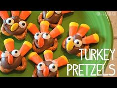 How To Make Thanksgiving Turkey Pretzels. Perfect Thanksgiving dessert for the kids to make!