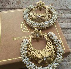 Earrings For Women Indian Earrings, Women's Earrings, Fancy Earrings, Antique Earrings, Antique Jewelry, Silver Jewellery, Fashion Earrings, Fashion Jewelry, Indian Wedding Jewelry