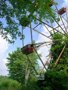 Creepy amusement park...supposedly haunted by kids that died there!  WV