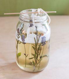 DIY: Pressed Herb Candles | http://adventures-in-making.com/diy-pressed-herb-candles/