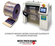 Automatic baggers deliver exceptional value, speed and flexibility for automatic bagging operations. The machines use pre-opened bags on a roll. Call us today to see how it can save time and money in your business operations! 1.800.722.2325 http://www.beckpackaging.com/ #BeckPackaging #BeckSolutions #MachineMatchmakers #BagSealer