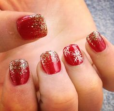 On Christmas eve, I'm going to ask the ladies at the nail salon if they could make this happen. Maybe not. Maybe I could have a friend who is good at doing nails give it a shot ;)