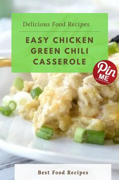 Easy Chicken Green Chili Casserole  Green chili bird casserole is amusing twist at the traditional enchilada casserole using yummy inexperienced enchilada sauce. I brought in some black olives due to the fact they are my favourite and crowned it with green onions for a little shade. Every now and then casseroles aren't the prettiest i have to admit!  #easycrockpotmeals #crockpotchicken #crockpotchickenrecipes #BestFood Green Chili Casserole, Enchilada Casserole, Enchilada Sauce, Best Chicken Recipes, Chicken Salad Recipes, Green Chili Chicken, Good Food, Yummy Food, Green Onions