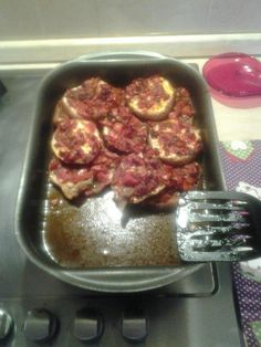 Melanzane alla sarda.  Mi pare fosse il nome corretto di questo piatto anche se con la ricetta sono andato a memoria.