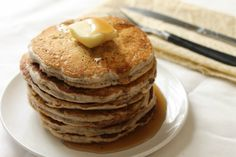 The vegan chia seed pancakes made with whole wheat flour are a delicious, simple, and healthy breakfast option. Healthy Recipe Videos, Healthy Salad Recipes, Healthy Desserts, Vegan Recipes, Snack Recipes, Healthy Eats, Delicious Recipes, Healthy Breakfast Options, Healthy Ice Cream