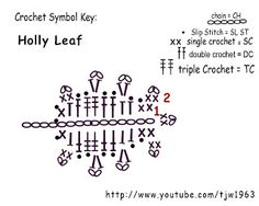 Crochet Geek : Crochet Holly Leaf