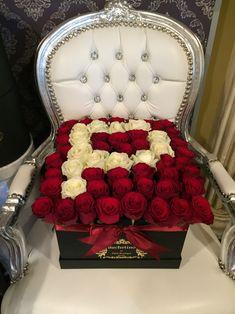 Litera P din trandafiri