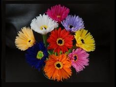 How to make paper flowers out of crepe streamers/ DIY Valetine's day craft - YouTube