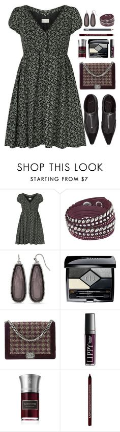 """new dress"" by rasc2016 ❤ liked on Polyvore featuring Denim & Supply by Ralph Lauren, Versace, Swarovski, Christian Dior, Chanel, Butter London, Les Liquides Imaginaires, NYX, NARS Cosmetics and patternmixing"