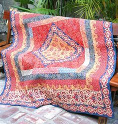 Haute Bohemian Quilt Top Kit  French General by Motifsbyhand