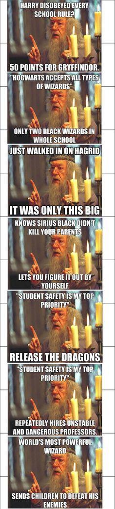 Harry Potter Albus Dumbledore scumbag headmaster lol troll funny Hogwarts