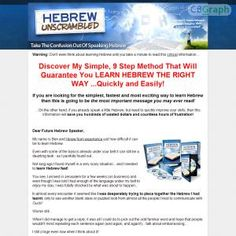 Another Top Quality Product Teaching The Quickest And Easiest Ways To Learn To Speak Hebrew Fast. $4.95 Trial And Then $22.05 Seven Days Later. Full Affiliate Resources Page. See more! : http://get-now.natantoday.com/lp.php?target=hebrewu