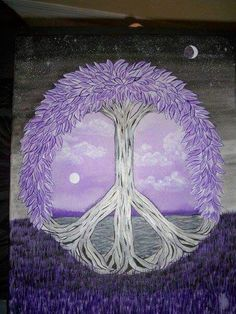 ☮ American Hippie Bohéme Boho Peace Sign Art ☮