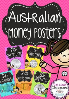 Australian Money Posters Bright and chalkboard - great for display Stay Classy Classrooms Money Activities, Math Activities For Kids, Year 1 Maths, Australian Money, Teaching Math, Teaching Ideas, Math Measurement, 1st Grade Math, Stay Classy