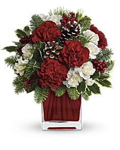 Send Christmas Flowers in Baltimore, MD from Raimondi's Flowers & Fruit Baskets for flower delivery in the Baltimore area. Raimondi's Flowers & Fruit Baskets in Baltimore offers a wide selection of Christmas Flowers. Christmas Flower Arrangements, Christmas Flowers, Christmas Centerpieces, Floral Arrangements, Christmas Wreaths, Christmas Crafts, Christmas Decorations, Christmas Holiday, Deco Floral
