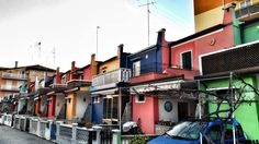 Lovely #Caorle #colorful #houses.  Not Tobermory but quute close