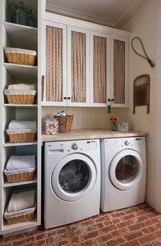 25+ Hermosas y Funcionales Propuestas para una Lavandería con Estilo #homedecor #decoration #decoración #interiores