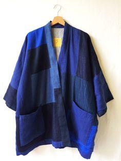"""Image of  """"SHADES OF BLUE INDIGO"""" KIMONO JACKET collection SS16"""