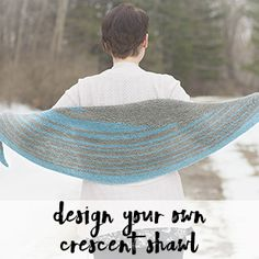 Design your own crescent shawl without the math using this pattern More