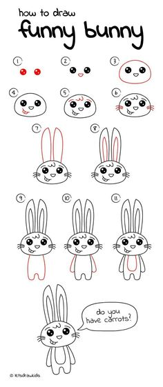 step drawing draw easy drawings bunny funny things perfect activities simple rabbit cartoon sketch cool let creative steps animal visit