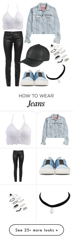 """Rock it jeans&leather"" by nanouhawz003 on Polyvore featuring Pierre Hardy, Balenciaga, Topshop, H&M, cutecardigan and springlayers"