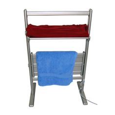 @Overstock.com.com - Royal Elegance Freestanding Towel Warmmer Drying Rack - Keep your towels off the floor and ready for use with this warming towel drying rack. The rack heats towels and delicates while they hang or lay flat, making it easy to have your items ready to wear. The six-foot cord reaches any outlet for easy use.  http://www.overstock.com/Home-Garden/Royal-Elegance-Freestanding-Towel-Warmmer-Drying-Rack/6294098/product.html?CID=214117 EUR              104.90