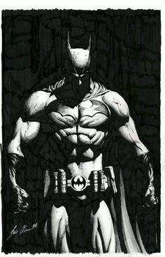 Get custom Batman in Black and white at http://kaoskarakter.co