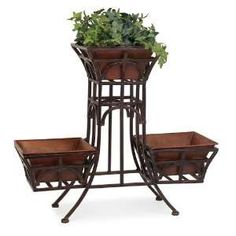 Tier Wrought Iron Plant Stand Planter Stands Flowers