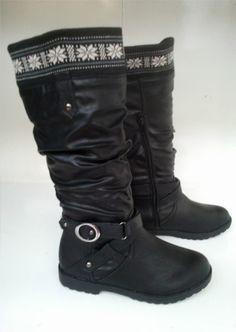 Ladies Wilder Calf Buckle Riding Boots Black. Price £19.99 ONLY Black Riding Boots, Black Boots, Ladies Footwear, Shoe Boots, Shoes, Calves, Biker, Slippers, Lady