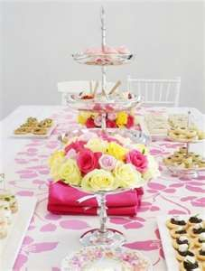 yellow and pink centerpiece