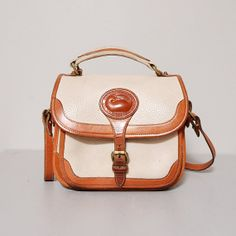 1980s Dooney and Bourke Purse  Tan Pebbled by OldFaithfulVintage, $43.00