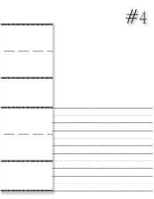 Three line writing paper