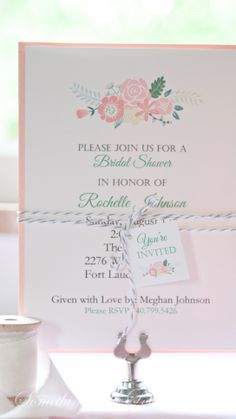 Bridal Shower Invitations- Wedding - Wedding Shower www.somethingwithlove.etsy.com www.somethingwithlove.com