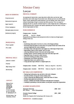 Jessica Chapman Lawyer CV Resume Template Designs
