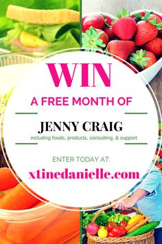 Huge Sweepstakes Announcement: Win a Free Month of the Jenny Craig Weight Loss Program! Contest runs through the entire month of MARCH! ENTER TODAY at xtinedanielle.com! #sponsored #giveaway #JennyCraig #weightloss