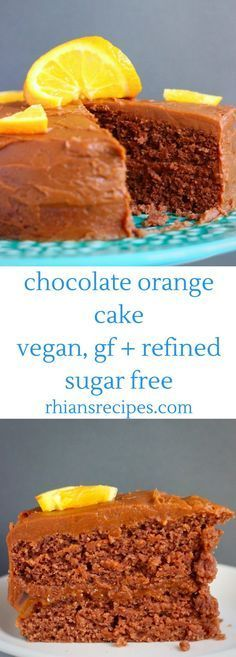 This Gluten-Free Vegan Chocolate Orange Cake is rich and decadent, moist and fluffy, and fruity and citrusy! Coated in a delicious chocolate sweet potato buttercream frosting. Refined sugar free.