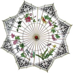 Songbird 8 Point Chinese Paper and Bamboo Parasols