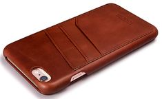 Vind het iPhone hoesje van leer waar jij naar op zoek bent - #vintage leather iphone case | iCarer iPhone 6/ 6S Curved Edge Vintage Card Slot Series Genuine Leather Case - http://ledereniphonehoesjes.nl/slimme-iphone-6-hoesjes/