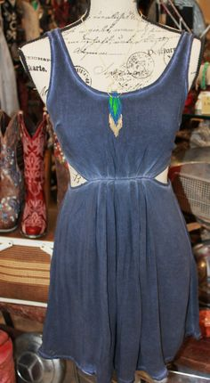 Blue dress with cut out sides! $60.95